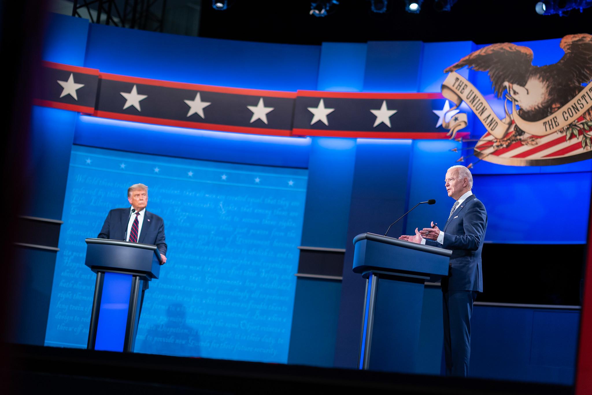 President Trump and former Vice President Joe Biden at the presidential debate.