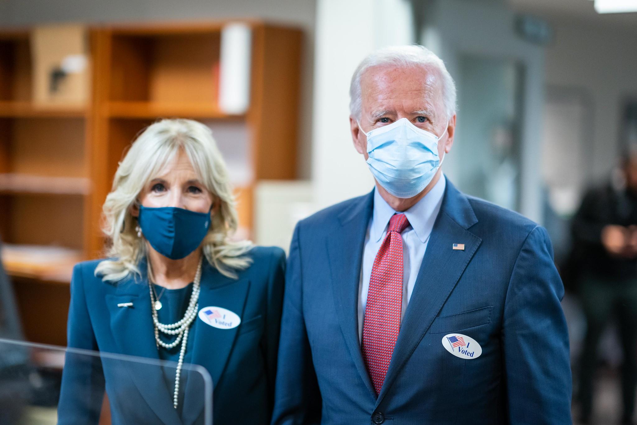 First lady Jill Biden and President Joe Biden