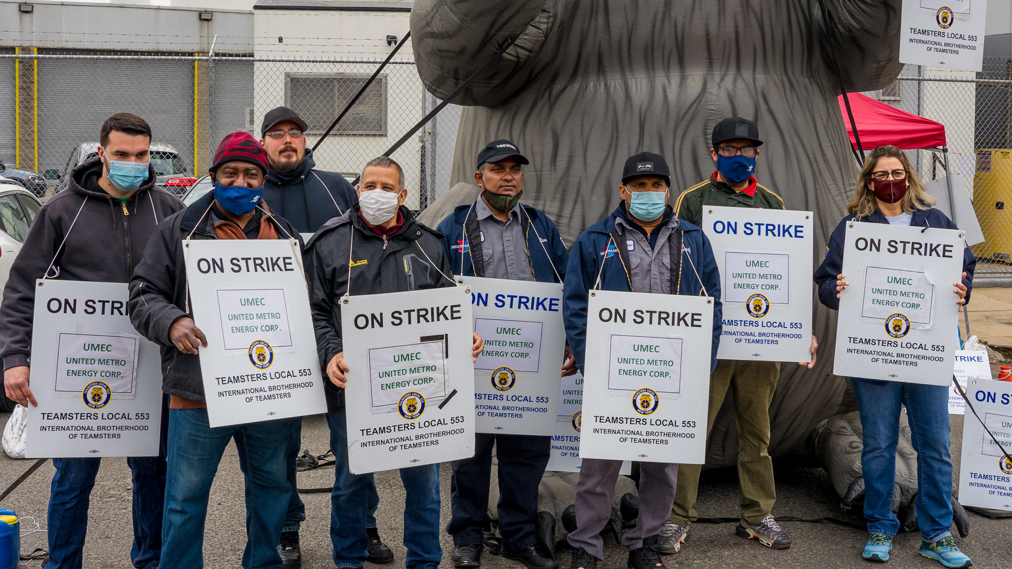 The company already sent letters to some of the workers on strike stating that they have been permanently replaced.