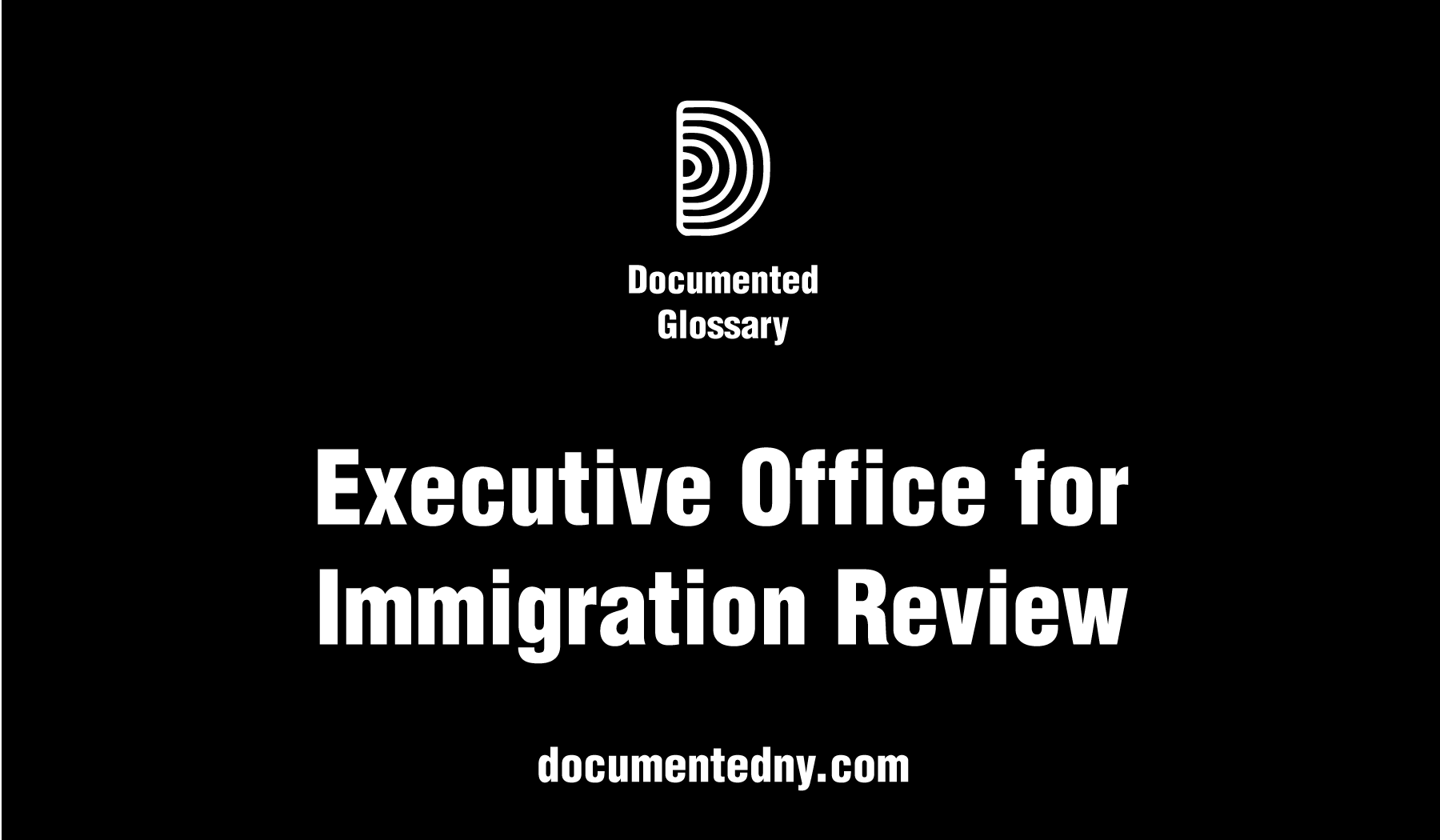 The Executive Office for Immigration Review oversees America's immigration courts, case appeals, and immigration-related employment cases.